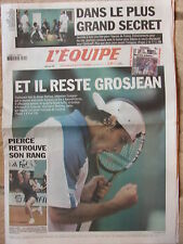 L'Equipe du 4/6/2002 - Coupe du monde de football : Brésil - Grosjean- Pierce