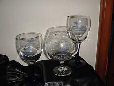 UNITED STATES U.S. NAVY GLASS (2) Wine/Blue Stem 1 Brandy Snifter