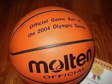 MOLTEN BASKETBALL JB2020 OFFICAL GAME BALL OF THE 2004 OLYMPICS NEW!!! RARE!!!!