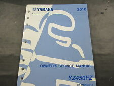 Yamaha OEM Owners Service Shop Manual for 2010 YZ450FZ Model P/N LIT-11626-23-44