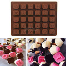 Silicone Alphabet Letter Chocolate Ice Jelly Soap Cookie Cake Cupcake Mold Mould