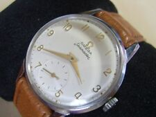 VINTAGE 1951 SS OMEGA SEAMASTER MANUAL CAL 265 SUBDIAL AT 6               #6129