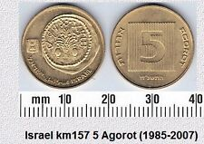 ISRAEL 5 AGOROT UNC COIN # 2111