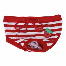 Culotte Sanitaire a Rayures Rouges et Blanches pour Chienne Animal Femelle(M) WT