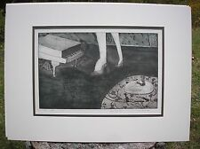 Piano Series II Surrealist Modernist Art Print Etching Luci Antoinette 2/8 1992
