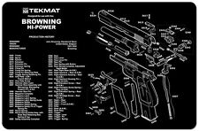 BROWNING HI POWER 9MM AUTOMATIC PISTOL GUN CLEANING GUNSMITH BENCH MAT TEKMAT