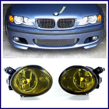 BMW E46 MTECH M TECH STYLE FRONT BUMPER W/ YELLOW FOG LIGHTS 1999-2005 SEDANS