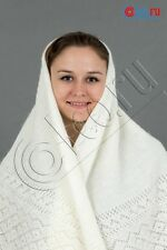 150*150 cm (est. 59*59 in) RUSSIAN ORENBURG LACE KNITTED GOAT SHAWL SCARF 020816