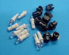 Subaru 10 White Dome LEDs Sockets Dashboard Instrument Panel Lights Bulbs NOS