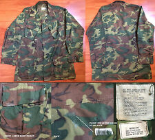 US ARMY MEDIUM LONG 3rd PATTERN ERDL JUNGLE JACKET VIETNAM