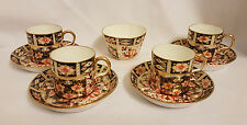 ROYAL CROWN DERBY IMARI 2451, set 4 x COFFEE Cups, SAUCERS AND SUGAR BOWL C.1906