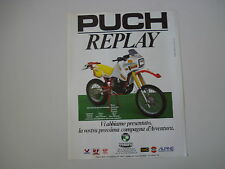 advertising Pubblicità 1986 MOTO PUCH FRIGERIO 250 REPLAY