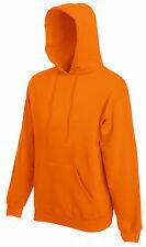 Fruit Of The Loom Plain Hoodie Hoody Hooded Sweatshirt Sweat Jumper No Logo