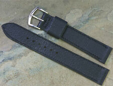 Textured matte leather 16mm vintage watch strap NOS 1960s/70s by Speidel USA