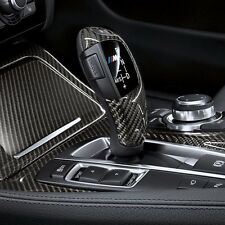 100% Real Pure Carbon Fiber CF Shift Knob Cover Shell Trim Decal for BMW F LH