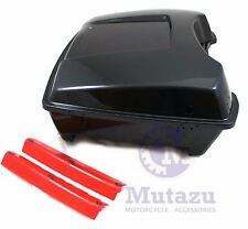 Mutazu Chopped Tour Pak For Harley Touring Models Raw ABS with Reflectors