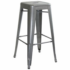 AmeriHome BS030 Loft Silver Metal Bar Stool