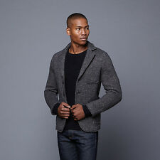 Slate &Stone Harrison Wool Knitted Notch Lapel Blazer Men Jacket Coat * L* Italy