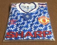 Manchester United 1990-1992 Retro Away Shirt Medium FREE POST