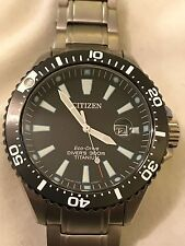 CITIZEN ECO DRIVE ROYAL MARINES LIMITED EDITION TITANIUM DIVER'S MENS WATCH