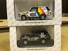 Skid Paradcar Range Rover Dakar 1983 VSD and 1983 Butagaz 1/43 sc. model set