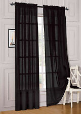 """1 Pcs. Sheer Voile Window Panel curtains DRAPE 63"""" ,84"""" ,95"""" SCARF MANY COLORS"""