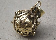 Brass metal harmony chime ball pendant, angel calling, pregnancy calming.4 cm