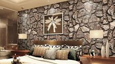 marble stone Featursimulation brick pattern wallpaper TV Decor rolls mural Vinyl