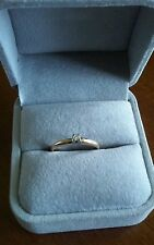 14k Yellow Gold Engagement Ring With A Small Solitaire Diamond Size 5.5