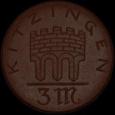 NOTGELD: 3 Mark 1921. Porzellan, Meissen. STADT KITZINGEN / BAYERN.