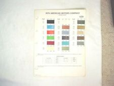 1970 AMC DUPONT  COLOR PAINT CHIP CHART JAVELIN AMX  MORE