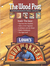 Lowe's THE WOODPOST 2002 Issue No. 3 Desk Organizer Build a Workbench
