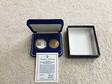 *RARE* 1989 Official SILVER & BRONZE Inaugural Medal Set - President George Bush