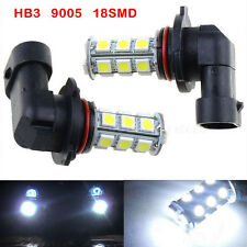 2x HID White HB3 9005 18SMD 5050 LED Car DRL Fog Driving HeadLight Bulb Lamp 12V