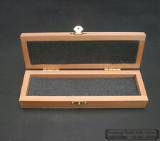 Straight Razor Container Beech Wood Case Gift Box