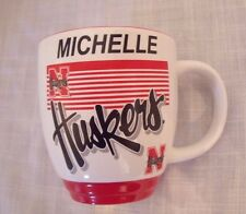 Nebraska Huskers Cup/ Mug White with Red/Blk Logo MICHELLE College Cornhuskers