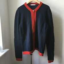 Very Cool MICHAEL BASTIAN zipped cardigan Sz IT 46 Made in Italy