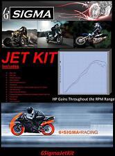 Kawasaki ZX750F ZX 750 cc F 6 Sigma Custom Carburetor Carb Stage 1-3 Jet Kit