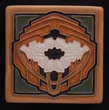 Arts & Crafts Craftsman Poppy Tile in Green Oak by Arts & Craftsman Tileworks E3