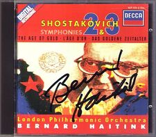 Bernard HAITINK Signed SHOSTAKOVICH Symphony 2 3 & The Age of Gold CD To October
