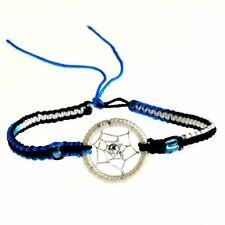 Black Blue White Dreamcatcher Friendship Bracelet Ethnic Dream Catcher Twilight