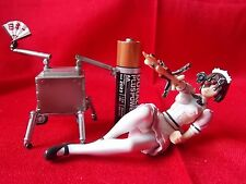 """Ghost in the shell Robot Maid & Jameson Figure RARE Length 4"""" 10cm / UK DESPATCH"""