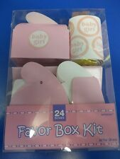 Favor Box Kit Pink Girl Cute Baby Shower Party Gift Toy Square Candy Boxes