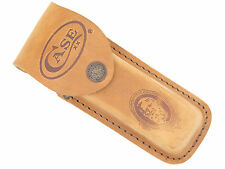 "CASE XX 6265 BROWN NATURAL LEATHER 5 1/4"" FOLDING HUNTER CAMP KNIFE SHEATH (47A)"