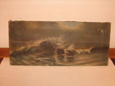 Victorian Oil Painting on Canvas for Framing
