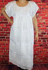 Medium Oaxaca Mexican Tunic Dress Huipil 100% Cotton Back Strap Loom Telar
