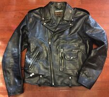 Eastman Leather ELMC ROADSTAR Vintage Black Horsehide Buco jacket Size 44