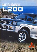 Mitsubishi L200 GL GLS 1999 catalogue brochure Poland