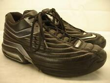 Nike AIR FORCE Dura MAX Black Silver Leather Shoes Mens 11.5 Basketball Vtg Mid