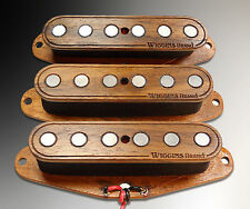 Wiggins Brand, hand wound Strat set, made to order, Wood pickups